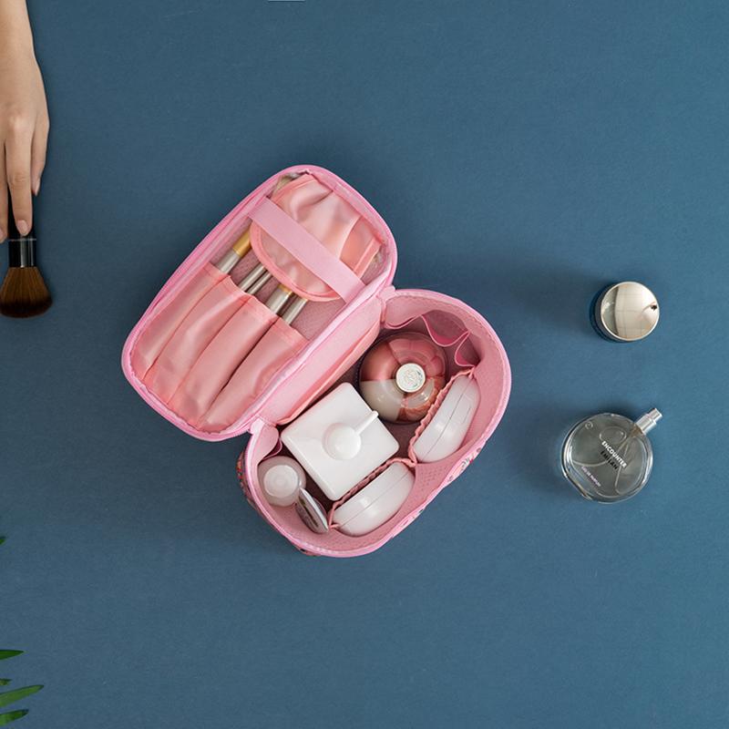 拓高 旅行便攜化妝包小號化妝品收納包韓國隨身手提化妝箱袋簡約