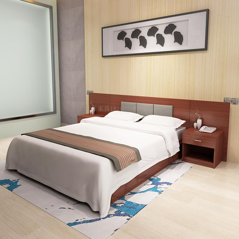 Special rate express hotel furniture standard room full set hotel rooms hard soft package apartment staff dormitory furniture bed