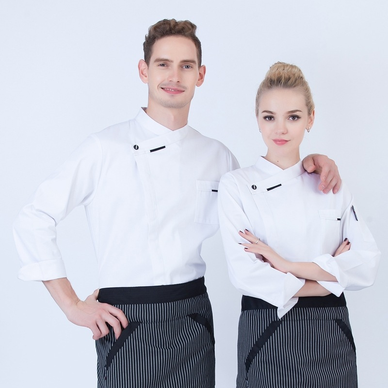 French Baker uniform Italian restaurant cooking chef work clothes autumn and winter long sleeve cake clothes framed baking
