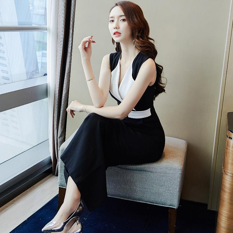 黑色正式场合职业连衣裙女夏2018新款气质中长款心机裙子设计感潮