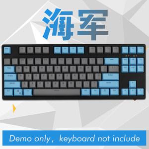 客制化个性迈阿密EVA配色PBT透光键帽87/104机械键盘二色PBT键帽