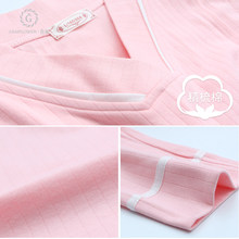 Chaduo Yuezi Clothing Spring, Autumn and Summer Pure Cotton Postpartum Thin Home Clothing for Lactating and Breastfeeding Pregnant Women's Sleepwear