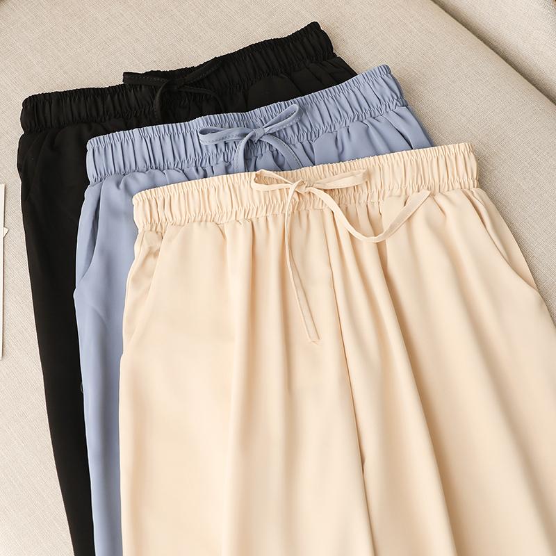 夏季宽松显瘦高腰垂感萝卜裤哈伦裤(用5元券)