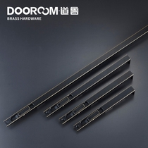 Daurou Copper Door Bolt simple black modern 8 inch 10 inch 12 inch 24 inch double open mother door hidden plug copper