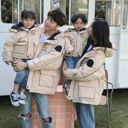 加厚一家三口亲子装2020新款冬装棉服母子母女装冬季保暖棉袄外套