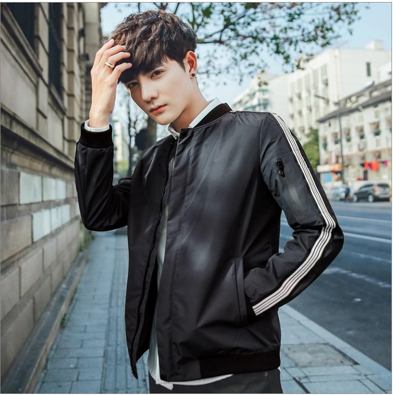 Jacket mens 2017 spring new Korean jacket mens youth slim student sports trend baseball suit