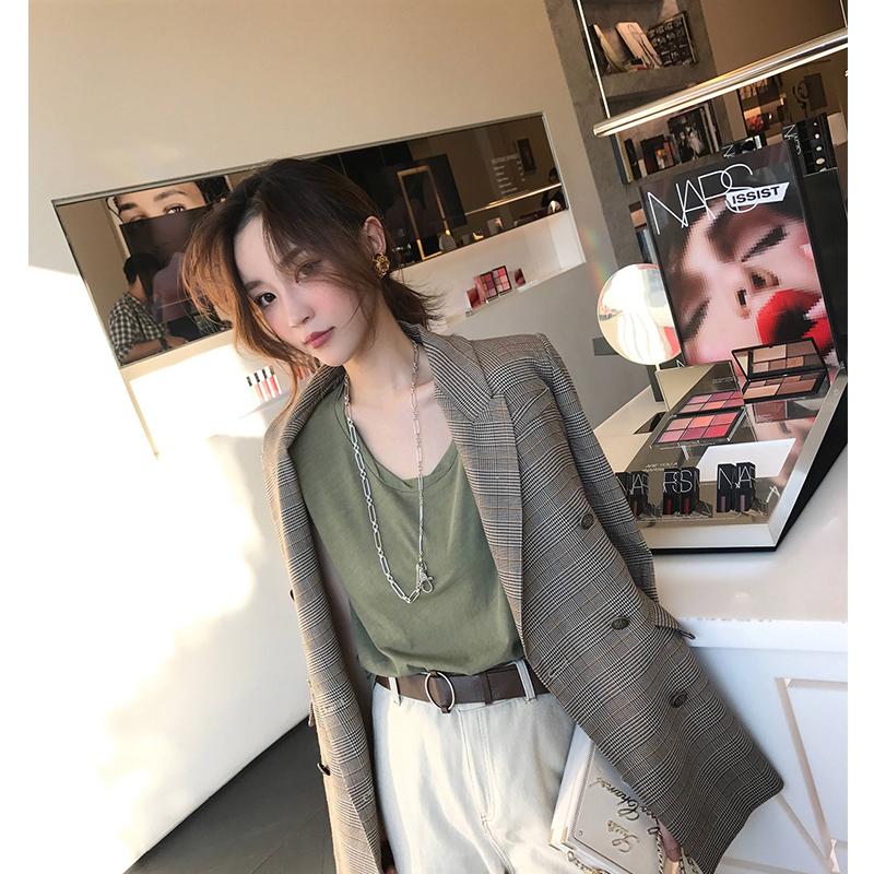 雪梨生活日韩创意回形针项链女冷淡风双层设计复古银色毛衣链长款