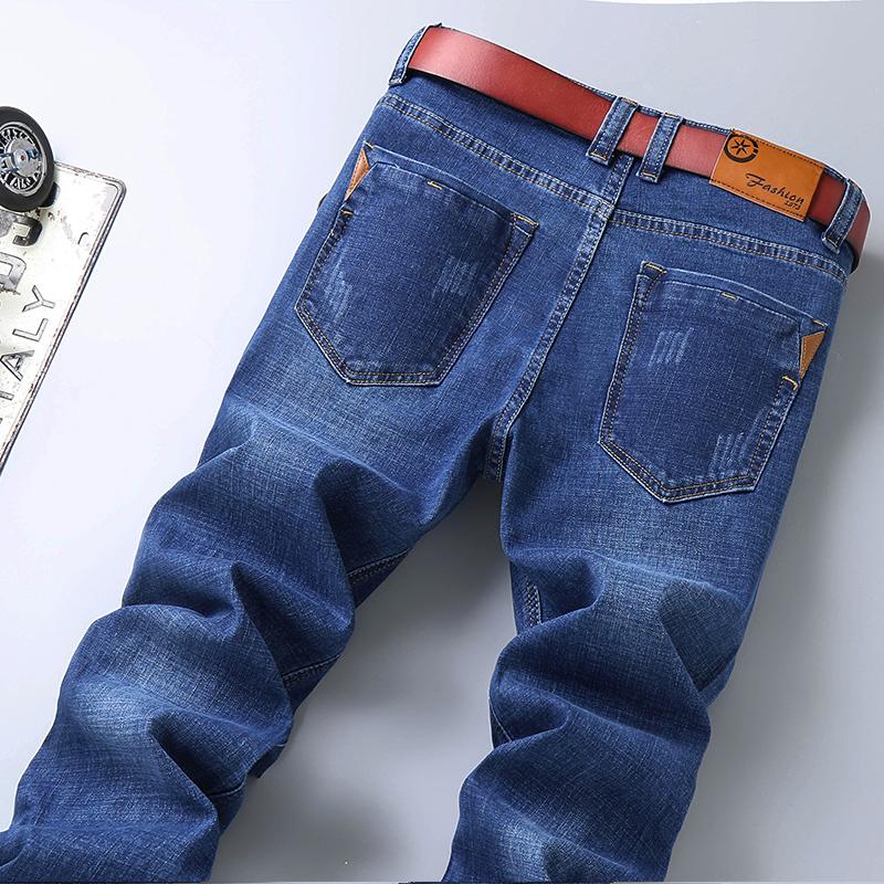 春夏款弹力男士牛仔裤男直筒青年韩版潮流修身大码商务休闲长裤子