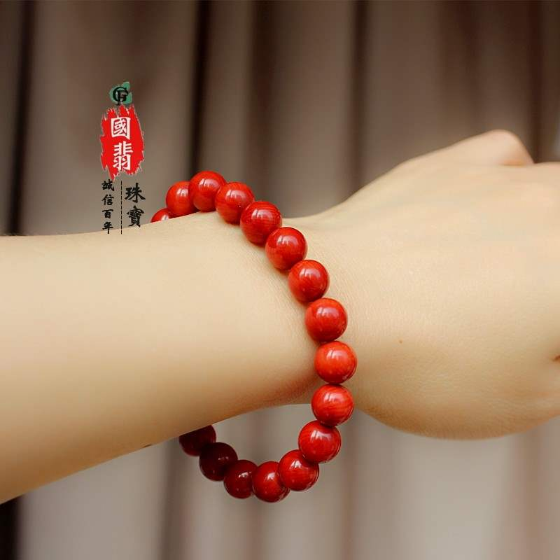 Genuine high-grade coral bracelet bracelet, the year of the year of the birth, send mother to send wife and girlfriend jewelry on womens Day