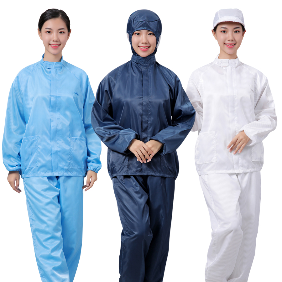 Protective clothing suit dust-proof clothing with cap industrial dust breathable spray paint clothing food factory work clothes dust-free split clothing
