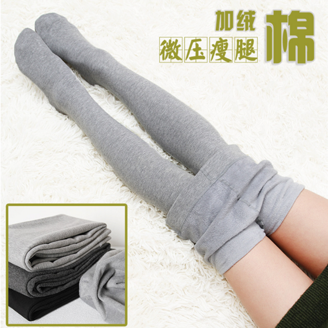 Autumn and winter womens Leggings with thin fleece, showing thin cotton, dragon and fleece one-piece pants, matte grey pantyhose and dragon claw