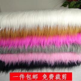 白色黑色长毛绒布料 手机柜台垫装饰品布 长毛布料格子铺背景展示图片