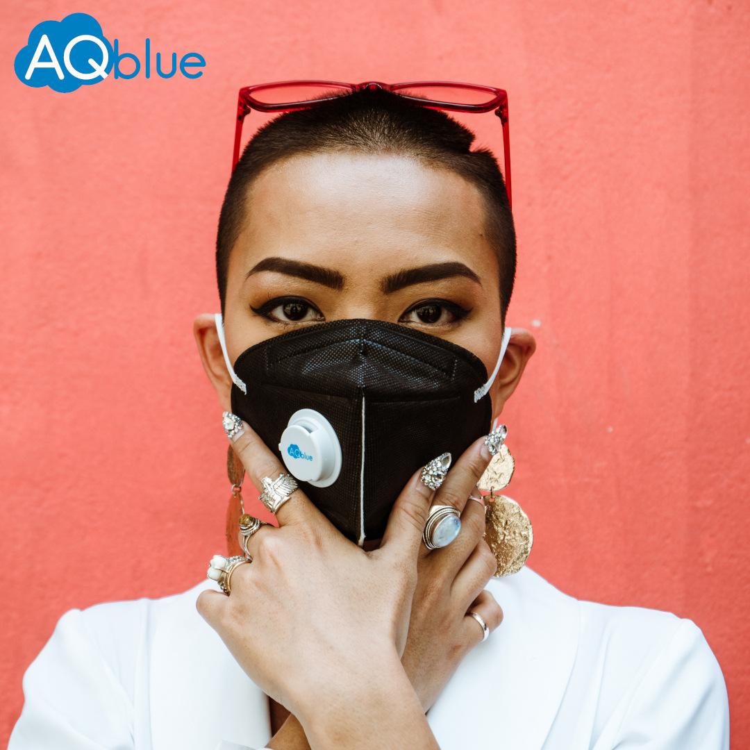 Aqblue mask classic mask L large male and female color anti haze PM2.5 anti bacteria kn95