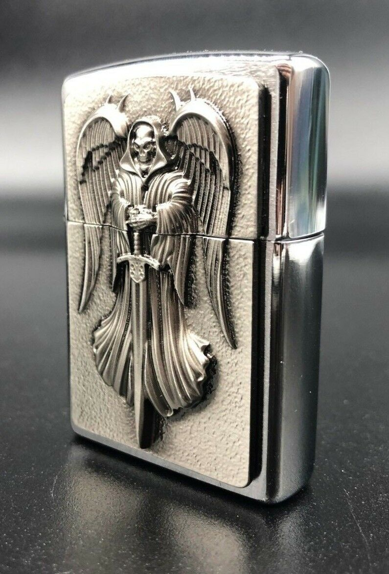 ZIPPO Zhibao 3D angel of death men limited retro kerosene gift lighter