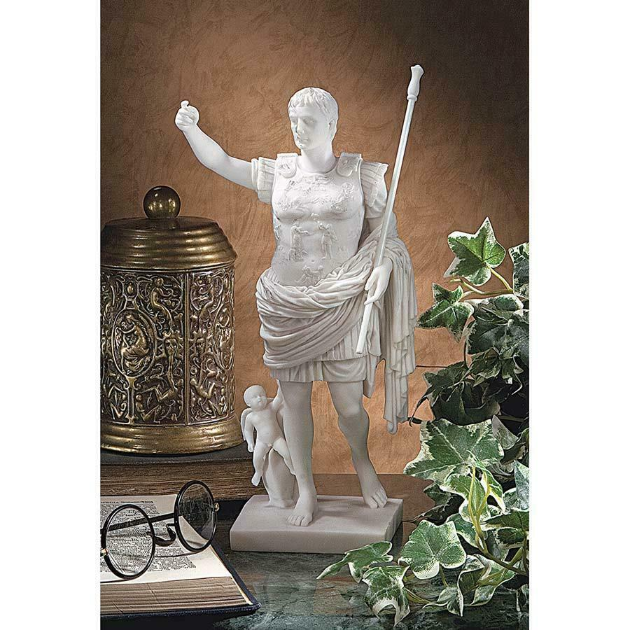 Buy sculpture ornaments home decoration primabota Caesar Augustus marble statue living room European style