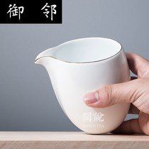 WS smell said) Fat white sweet white Grand cup jingdezhen handmade porcelain without light glaze tea Sea Kung Fu Fair Cup pottery