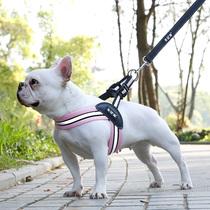 法斗狗绳宠物三角胸背带巴哥柯基雪纳瑞背心式牵引绳中小型犬用品