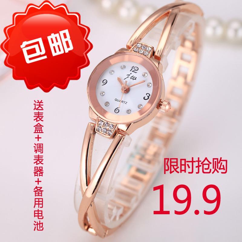韩国简约手链钢带手表女款学生时尚款小巧休闲女士石英表腕表