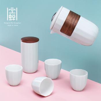 空蝉旅行功夫茶具小套装便携包式一壶四杯户外车载快客旅游泡茶杯