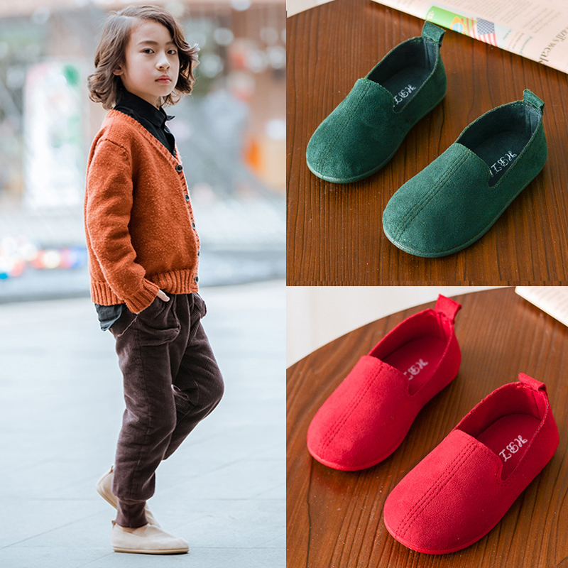 Spring 2020 childrens shoes girls Doudou shoes British style small leather shoes baby shoes boys soft sole single shoes toddlers