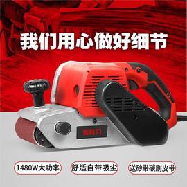 新款木工倒装手提式砂带机皮带轮带调速多功能抛光机砂纸机打磨机