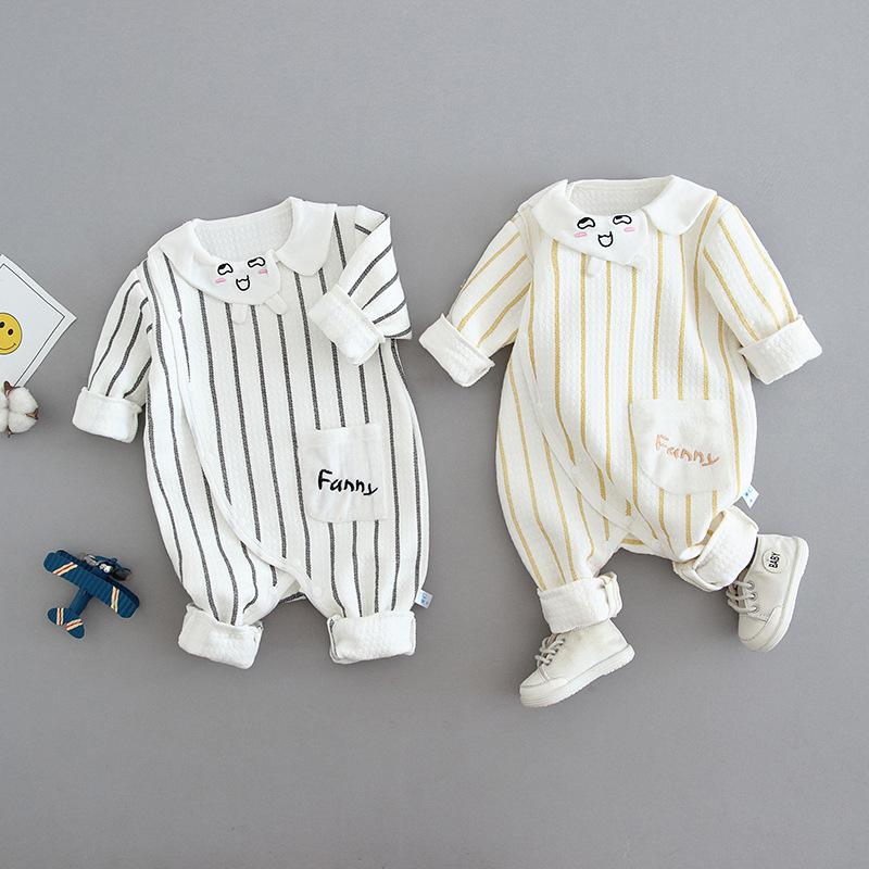 婴儿保暖连体衣秋冬春秋宝宝哈衣夹棉服装婴幼儿服饰童装