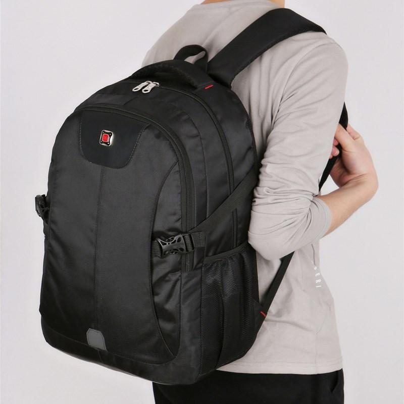 双肩包男士背包大容量休闲商务电脑包韩版高中学生书包男旅行包女