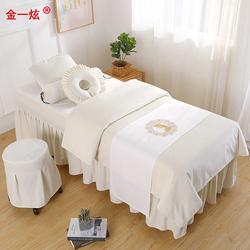 金一炫欧式美容床罩四件套床罩套