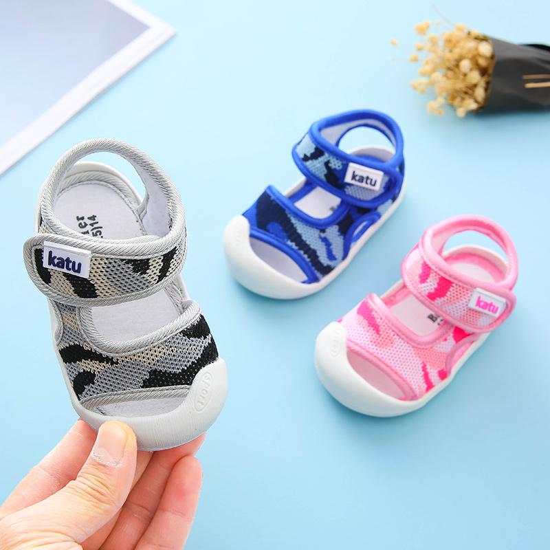 宝宝凉鞋男包头网布0-1一2岁软底防滑幼儿学步女童夏季婴儿凉鞋限100000张券