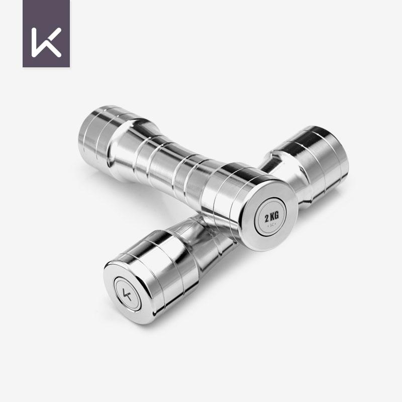 Keep молл гантель 2kg обшивка чистая сталь новое издание серебро фитнес модель форма мышца домой пара девочки