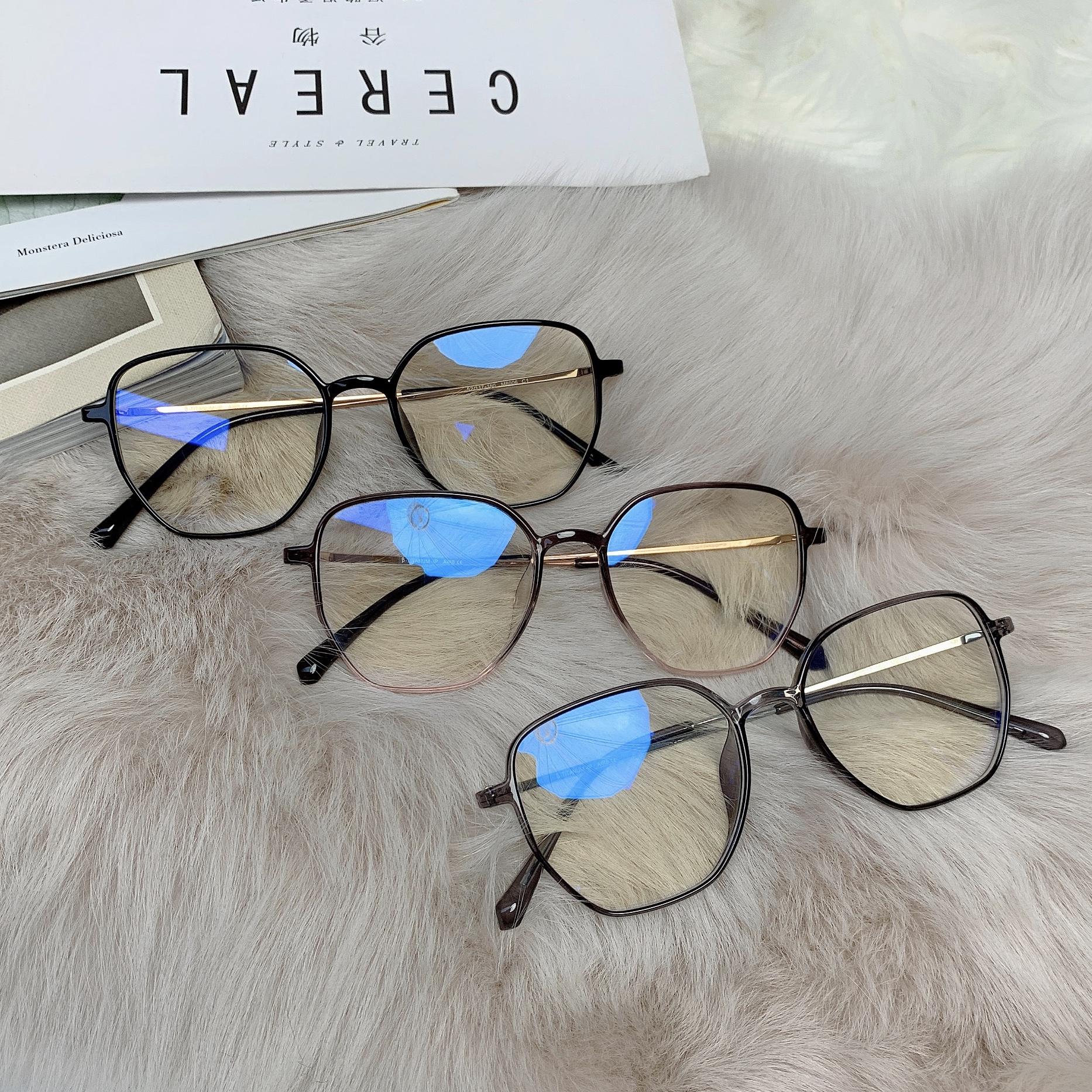 祖艾 自制【羽毛框】钛材质仅6g防蓝光眼镜可换镜片眼镜女