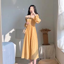 卡所2020春秋季新款显瘦气质法式宫廷复古少女超仙小香风连衣裙