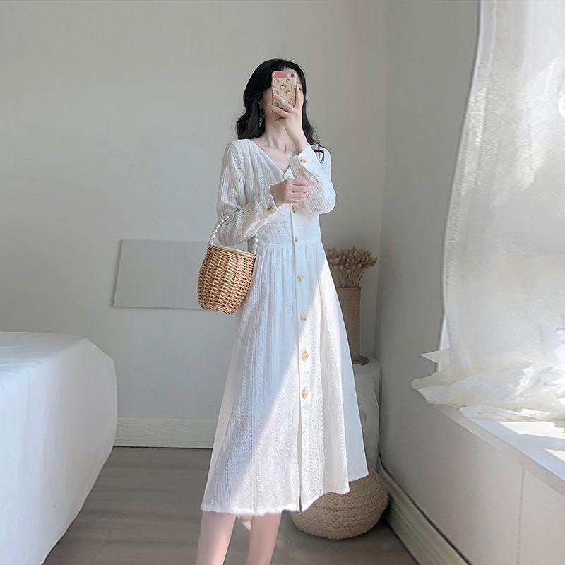 卡所2020春秋季新款气质显瘦连衣裙