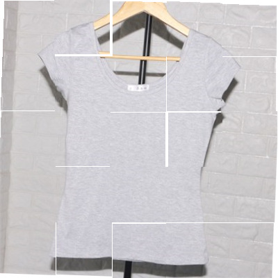 Guangdong Guangzhou short tight short sleeve t-shirt female low cut double U-neck leaky back sexy half sleeve top big neckline pure cotton