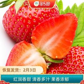 淘乡甜丹东99草莓净重3斤新鲜水果当季孕妇水果鲜甜图片