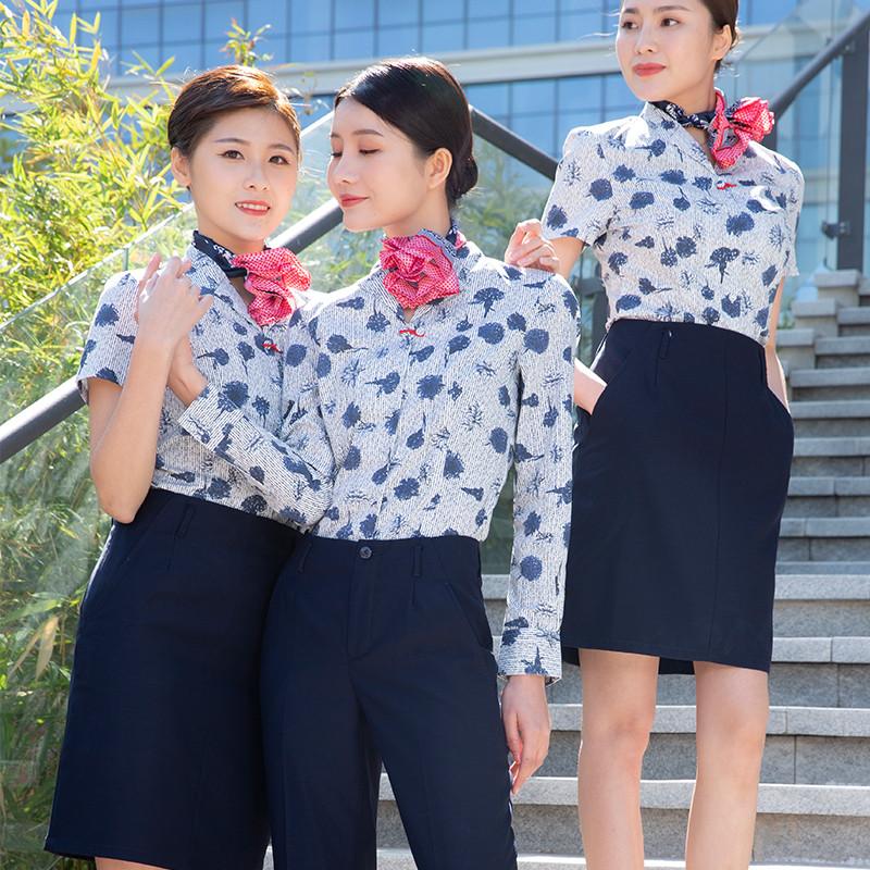 空姐制服女职业装餐饮工装高端会所美容师彩妆师酒店商场工作服装