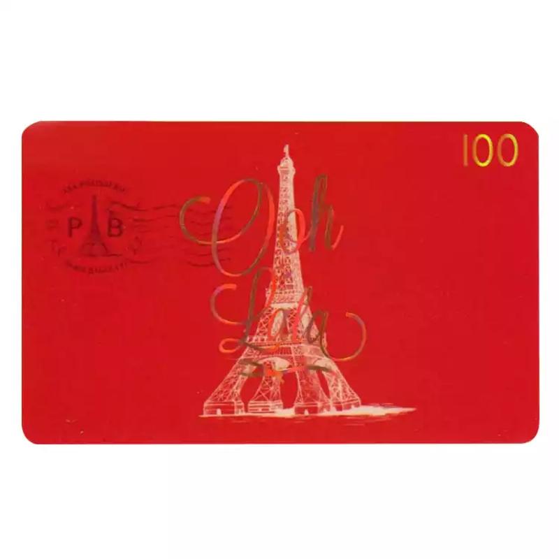 巴黎贝甜卡面包券蛋糕券优惠提货券现金卡100/200元面值 全国通用