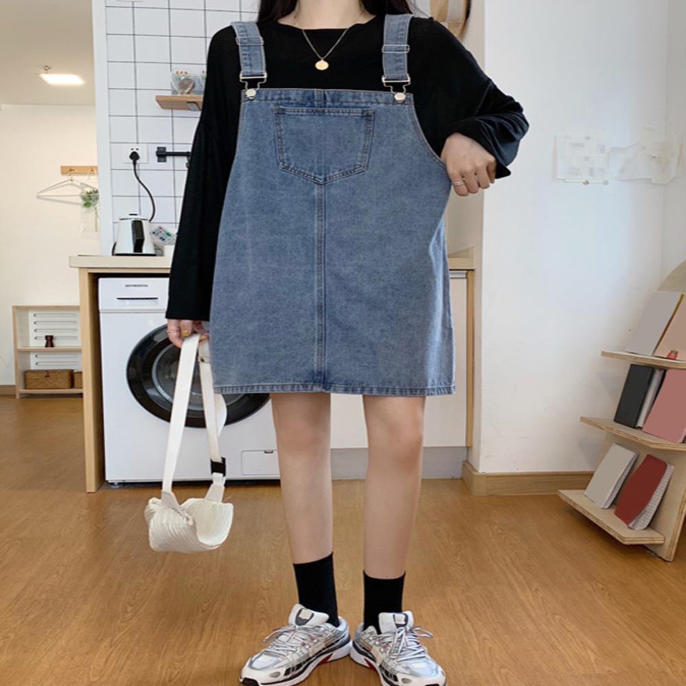 中國代購|中國批發-ibuy99|短裙|早春季2021年新款女装设计感小众法式连衣裙夏季短裙牛仔背带裙子
