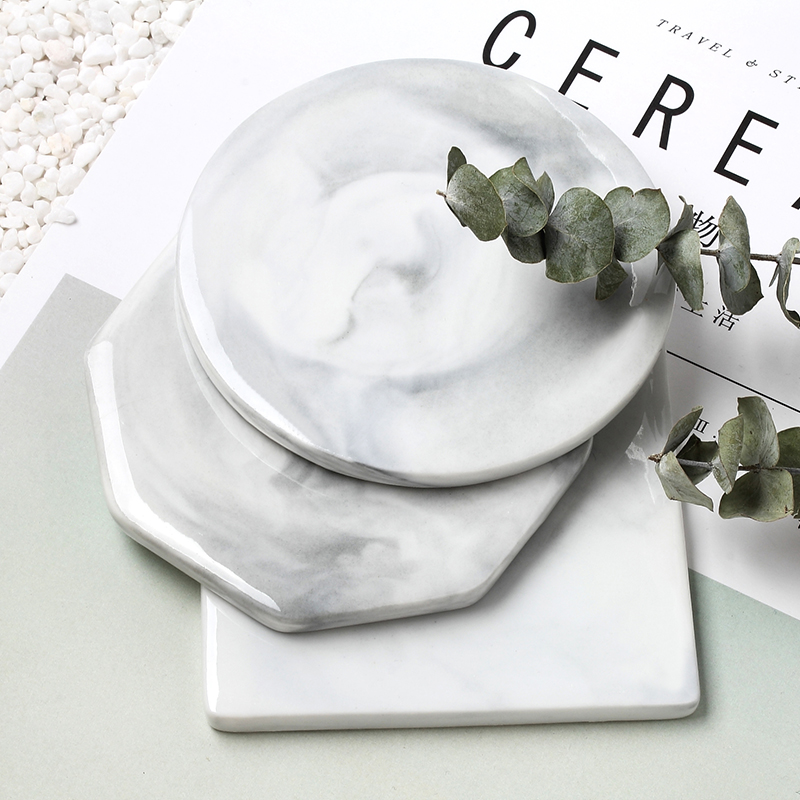 Marble piece manicure Necklace Ring Earring coaster shooting background