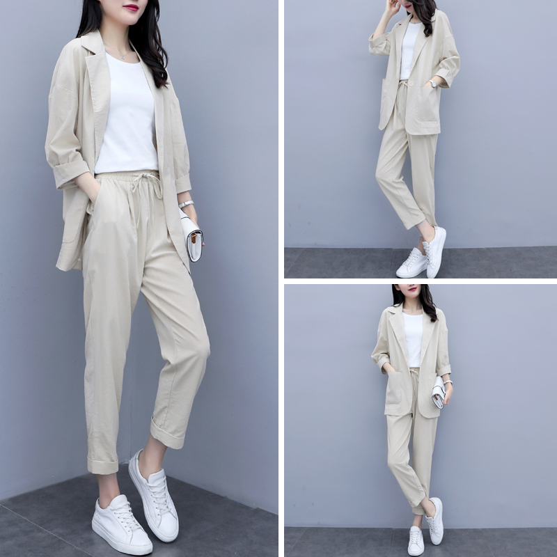 Suits, women, 2021, summer, new Korean version, temperament, women, women's professional, net red casual suit suit