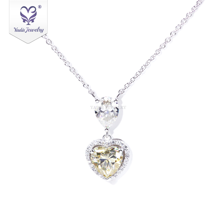 S925 gold plated necklace simple court inlaid semi precious stones small silver necklace students send wife and girlfriend