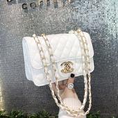 金镶玉香奈儿包包2020新款小香风链条女包菱格链条小包单肩斜挎包