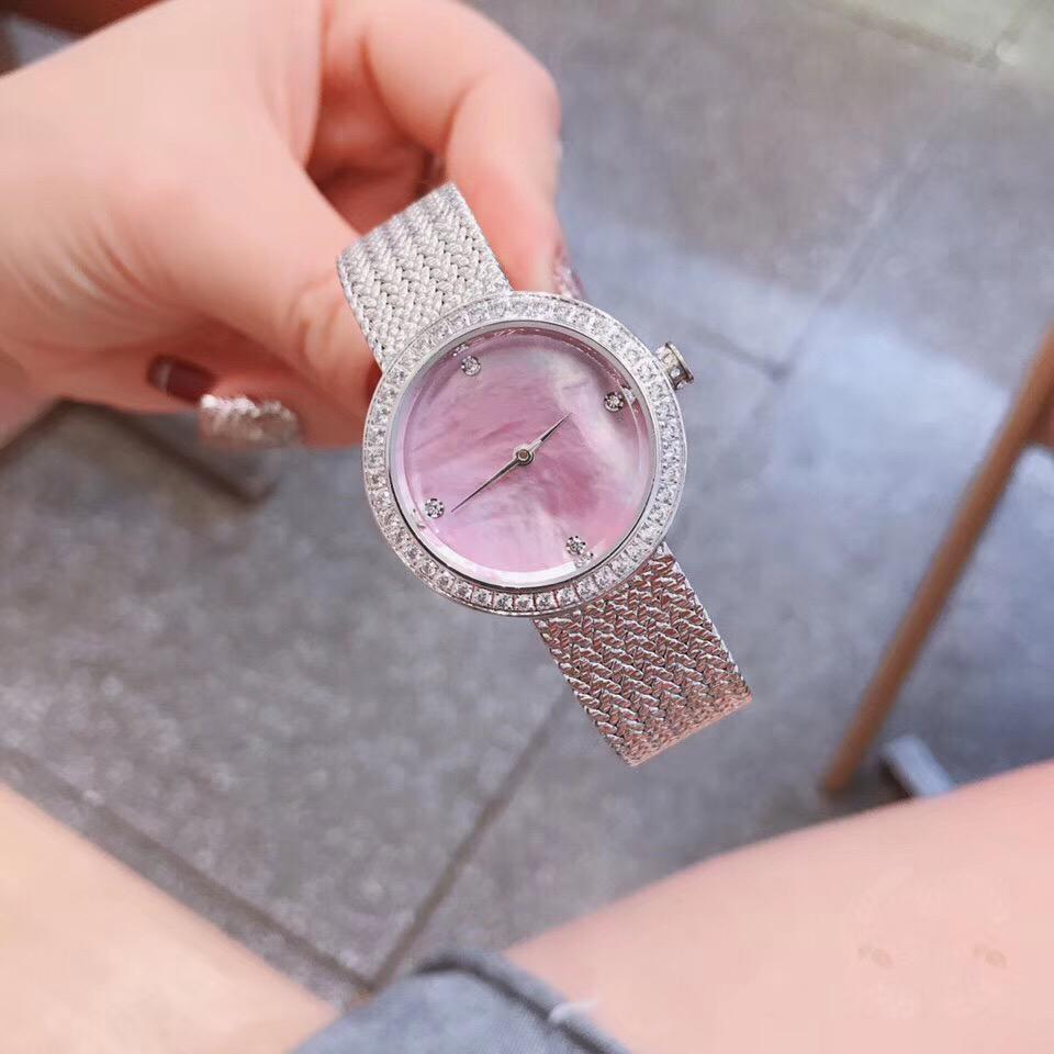 天然贝母面钻圈高级珠宝手表进口石英机芯女生夏季休闲腕表