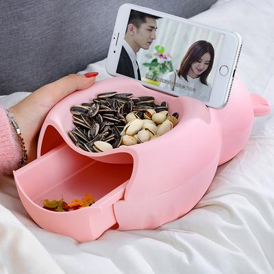 懒人嗑瓜子看剧神器吃瓜子盘客厅水果盘家用糖果盒创意零食干果盘