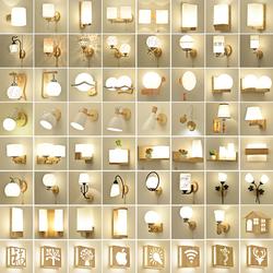 实木壁灯LED现代简约北欧创意床头灯客厅卧室过道走廊酒店木艺灯