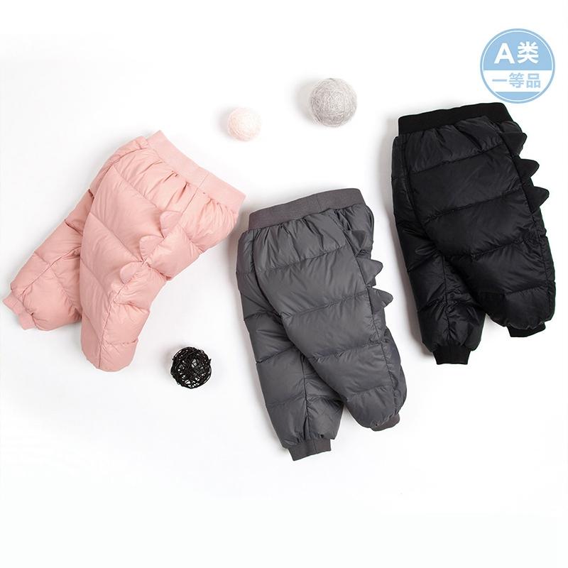 巴拉巴拉男小童羽绒裤婴儿幼童长裤宝宝裤子冬装外穿反季清仓折扣