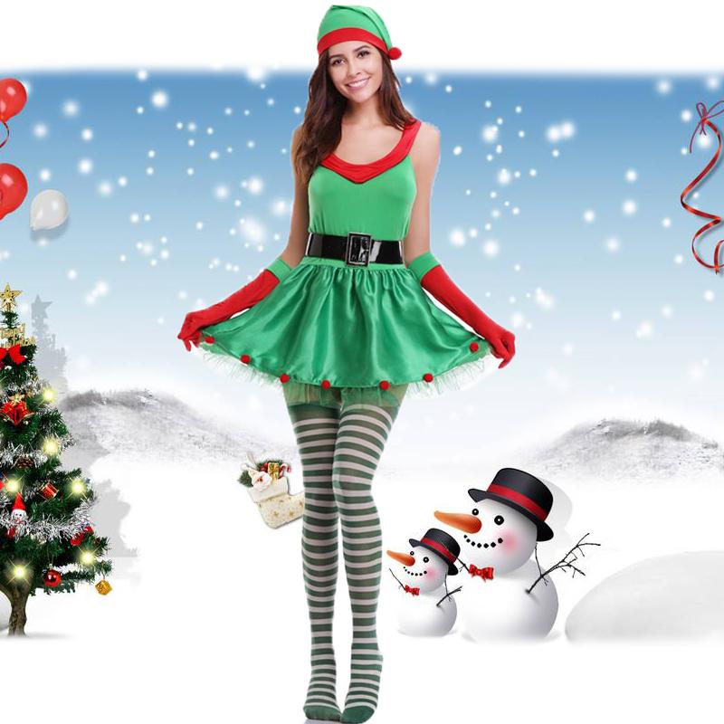 2017圣诞节服装酒夜店DS演出服装 圣诞老人圣诞树服装 派对演出服