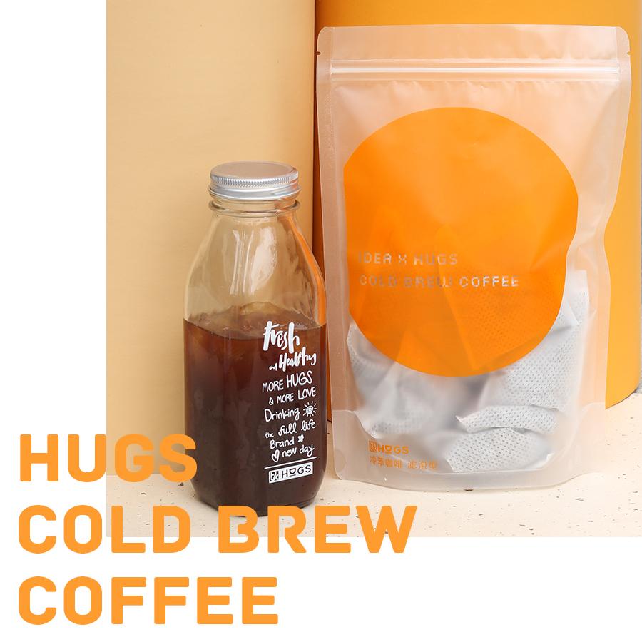 哈格斯Hugs冷萃冰酿精品咖啡粉0糖新鲜现磨美式黑咖啡cold brew
