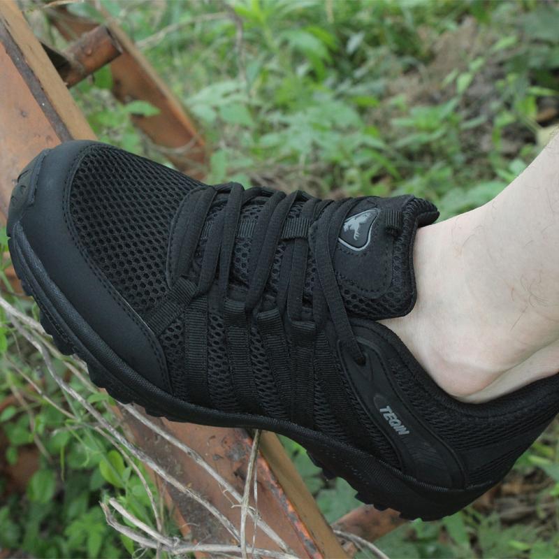 超轻低帮07式鞋干活鞋男黑色帆布透气作训鞋夏季网眼地勤训练保安