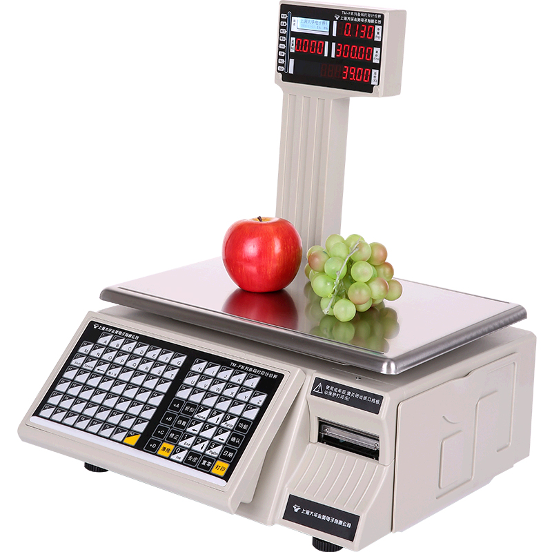 Dahua bar code scale tm-f supermarket weighing printing label self adhesive small bill printing scale commercial cash register electronic scale